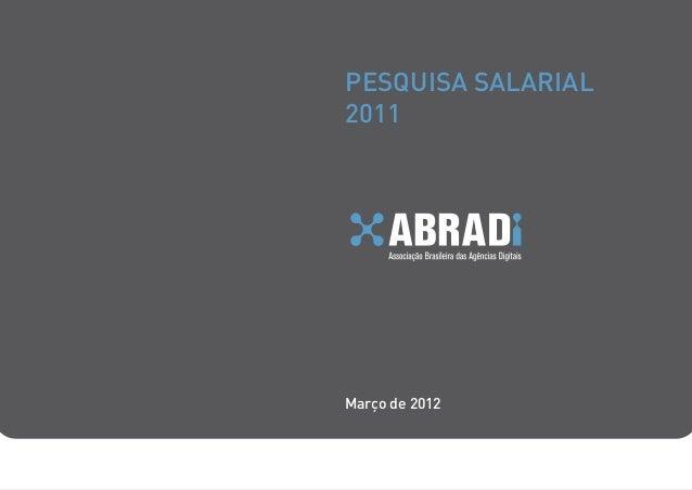 PESQUISA SALARIAL2011Março de 2012