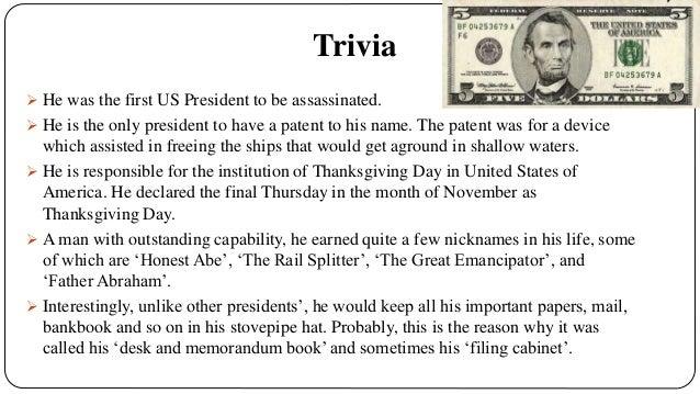 Abraham Lincoln Honest Abe