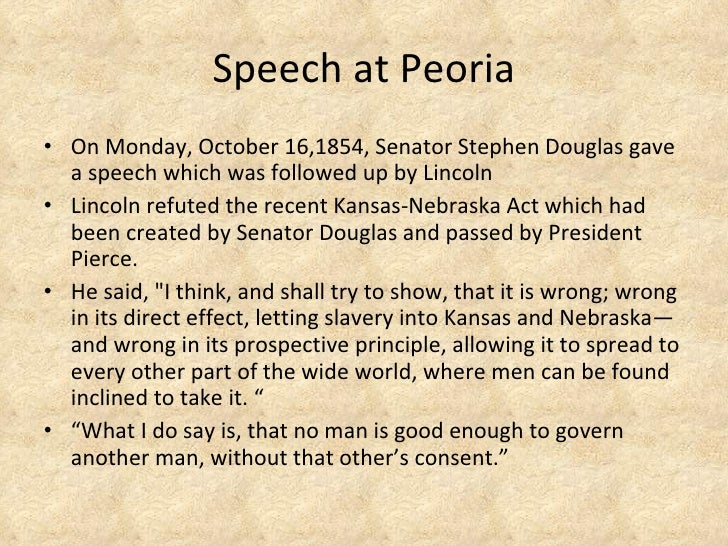 abraham lincolns speech at peoria