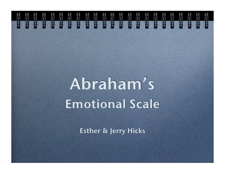 Abraham's! Emotional Scale!   Esther & Jerry Hicks!