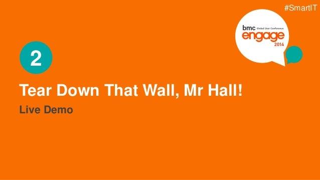 © Copyright 3/5/2015 BMC Software, Inc11 Tear Down That Wall, Mr Hall! 2 Live Demo #SmartIT