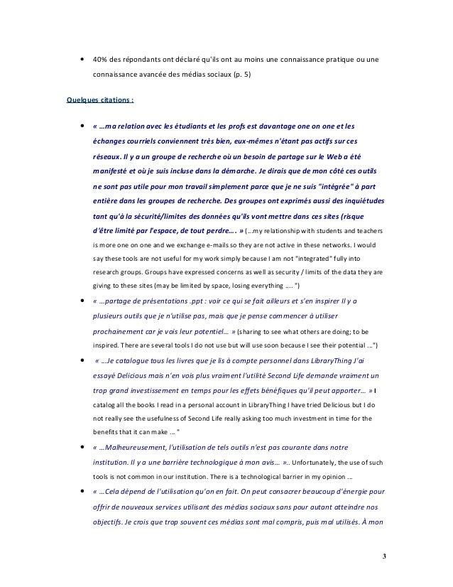 L'utilisation des médias sociaux dans les bibliothèques universitaires canadiennes : sondage ABRC / CARL 2010 Slide 3