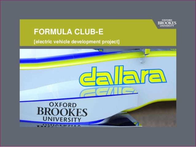 [electric vehicle development project] FORMULA CLUB-E