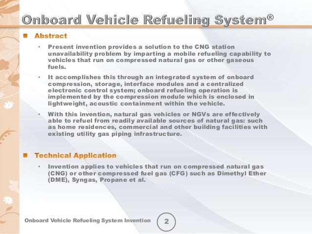 my invention onboard vehicle refueling system ovrs abridged sli