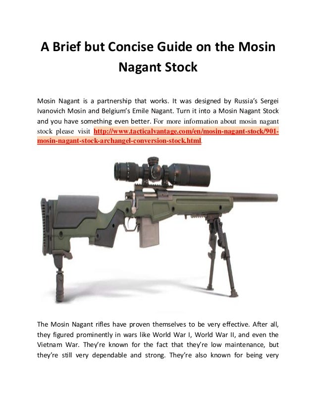 A Brief but Concise Guide on the Mosin Nagant Stock