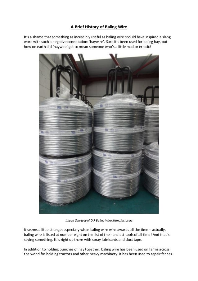 The History of Baling Wire
