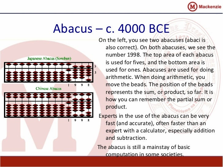 abacus history and use 1 history of computer: abacus: the stone age man used pebbles for counting cattle later on when man become more civilized, abacus came in use.