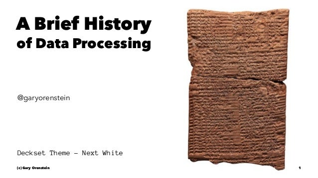 history of data processing