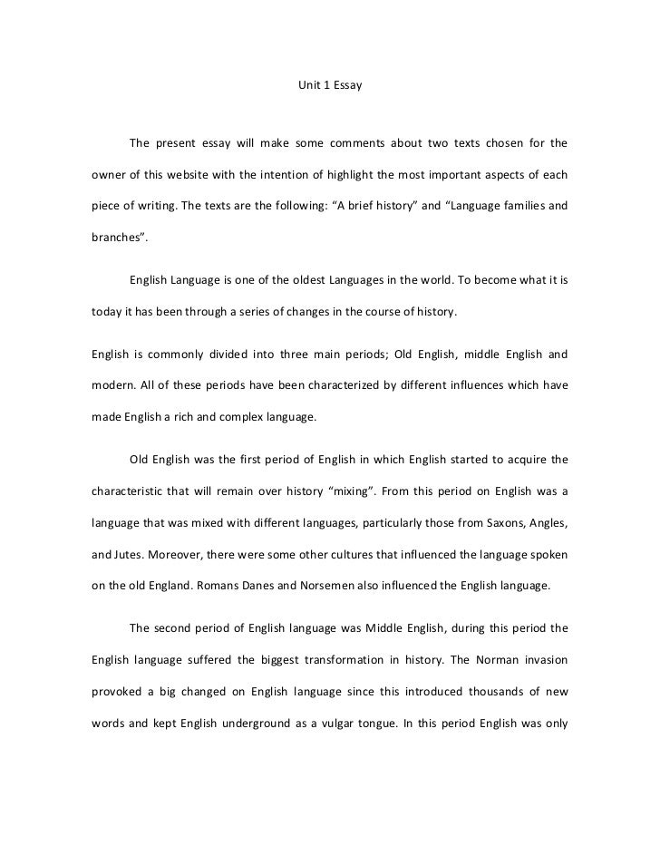 brief history of english essay a brief history of english essay