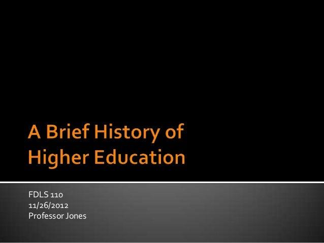 FDLS 110 11/26/2012 Professor Jones