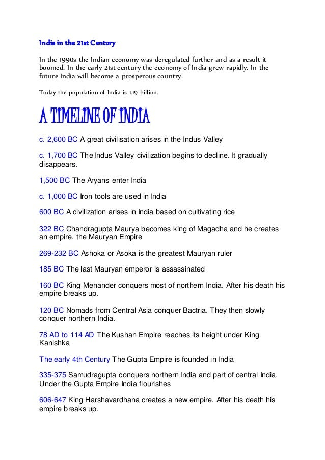 a brief history of india overview A brief history of globalisation   make in india to be led by automobile, auto component sectors maharashtra must participate in rising india mail this article.