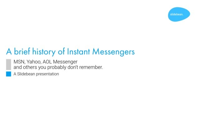 The History Of Instant Messengers