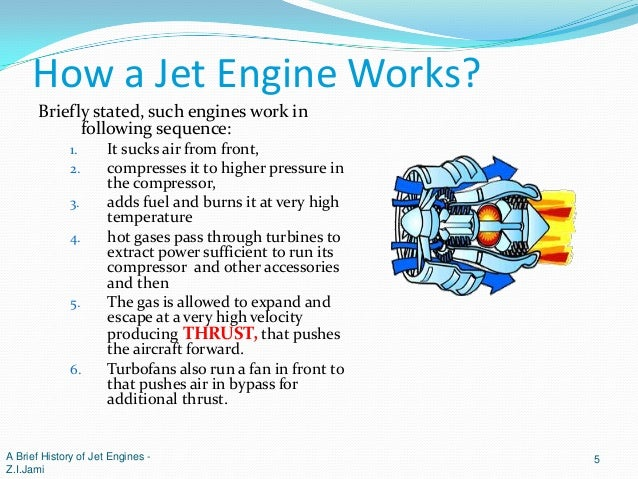 A brief history of jet (gas turbine) engines