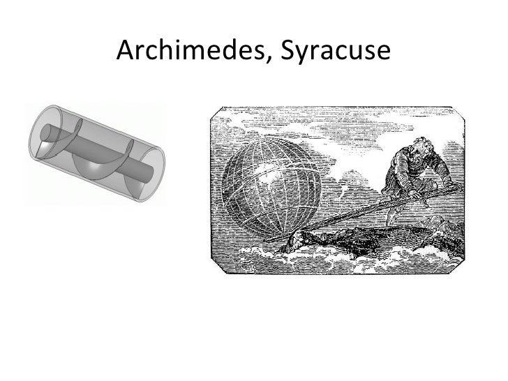 Archimedes, Syracuse