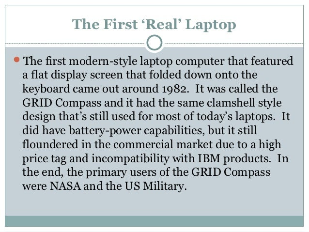 A brief history of portable computers