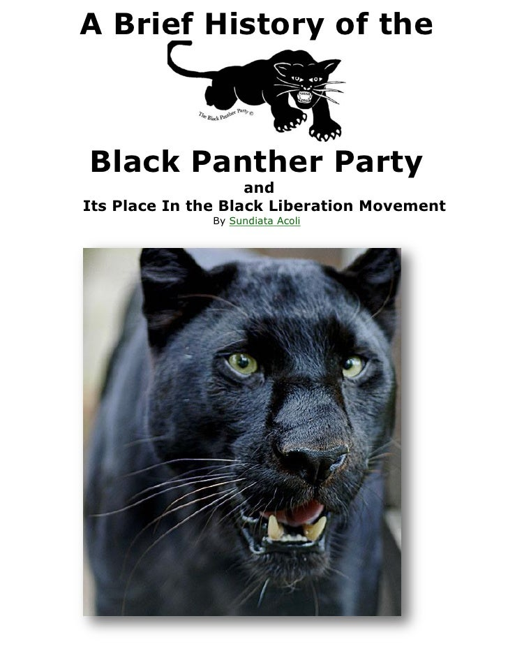 A Brief History of theBlack Panther Party                    andIts Place In the Black Liberation Movement               B...