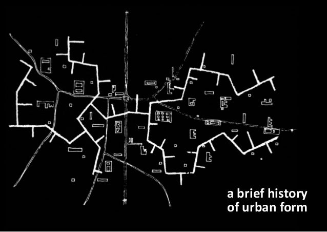 a brief history of urban form