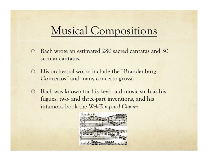 an introduction to the life and music contribution of johann sebastian bach A brief history of classical music  did not make a significant contribution to any musical development until the  johann sebastian bach and george.