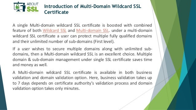 A Brief Introduction of Multi-Domain Wildcard SSL Certificate