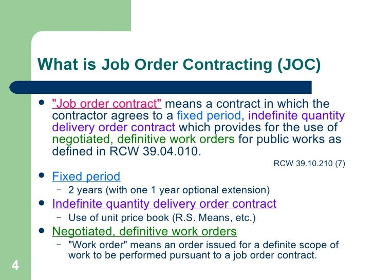 A Brief Introduction To Job Order Contracting