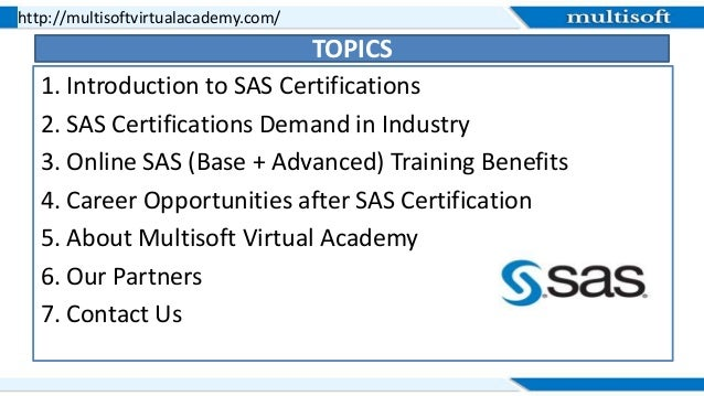 A Brief Introduction to SAS Certification