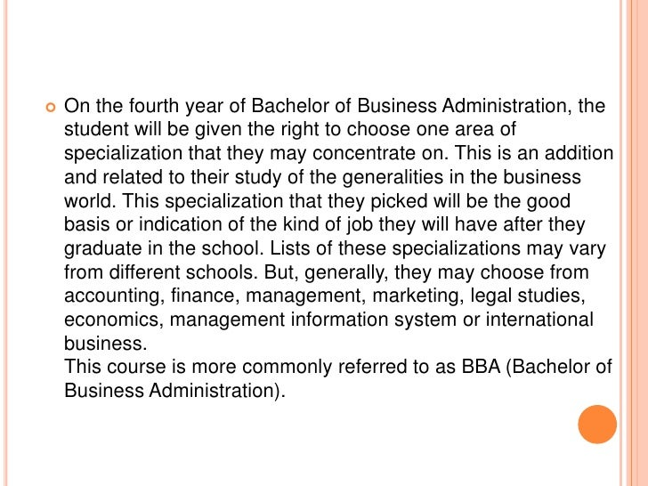 A brief outline for bachelor of business administration Slide 3