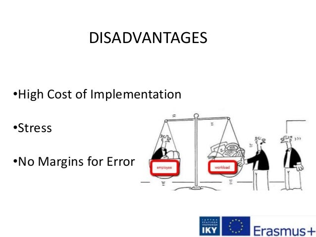 DISADVANTAGES •High Cost of Implementation •Stress •No Margins for Error