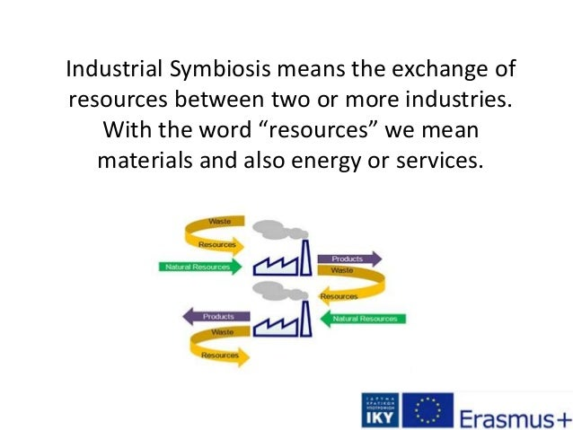 """Industrial Symbiosis means the exchange of resources between two or more industries. With the word """"resources"""" we mean mat..."""