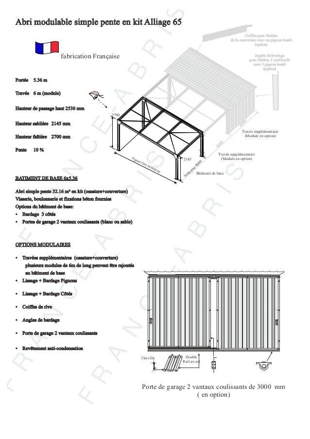 abri et charpente metal en kit france abris catalogue un. Black Bedroom Furniture Sets. Home Design Ideas