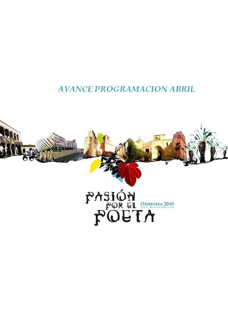 """Agenda de actividades             V Forum Internacional de música """"Ciudad de Orihuela""""          Del 4 al 10 de abril. Edic..."""