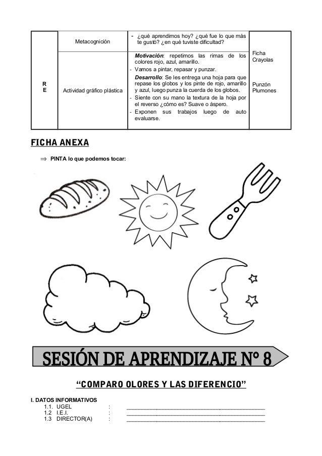 SESION DE APRENDIZAJE ABRIL 4 AÑOS