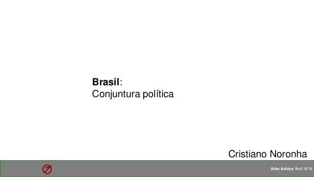 1 Arko Advice Abril 2016 Brasil: Conjuntura política Cristiano Noronha
