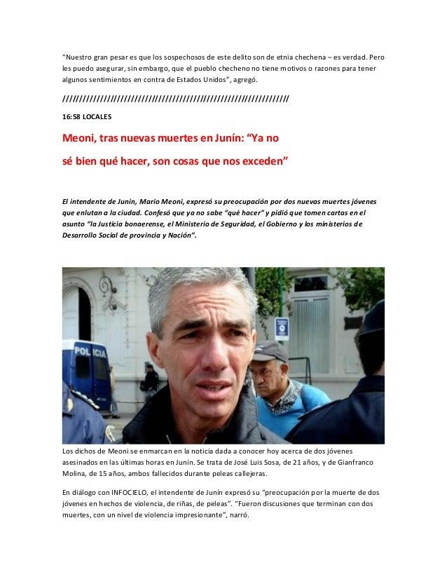"""""""Nuestro gran pesar es que los sospechosos de este delito son de etnia chechena – es verdad. Peroles puedo asegurar, sin e..."""