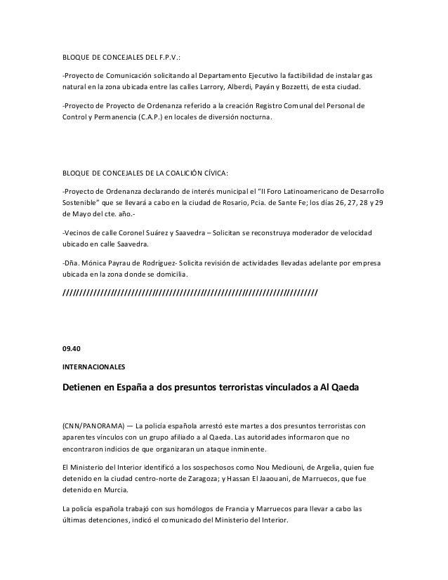 BLOQUE DE CONCEJALES DEL F.P.V.:-Proyecto de Comunicación solicitando al Departamento Ejecutivo la factibilidad de instala...