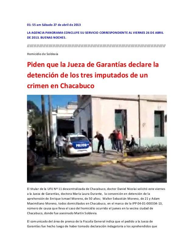 01: 55 am Sábado 27 de abril de 2013LA AGENCIA PANORAMA CONCLUYE SU SERVICIO CORRESPONDIENTE AL VIERNES 26 DE ABRILDE 2013...