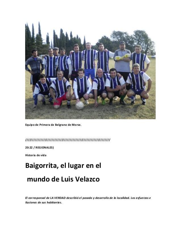 Equipo de Primera de Belgrano de Morse./////////////////////////////////////////////////////////////20:22 / REGIONALES)His...
