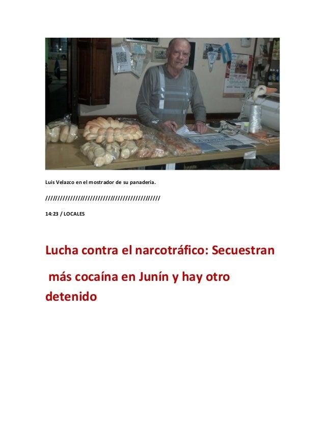 Luis Velazco en el mostrador de su panadería.//////////////////////////////////////////////14:23 / LOCALESLucha contra el ...