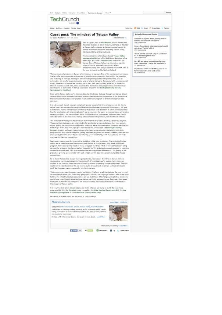 Okuri Ventures & Tetuan Valley - Menciones en medios Abr2011