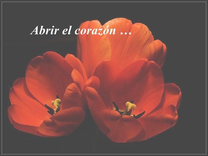 Abrir el corazón …