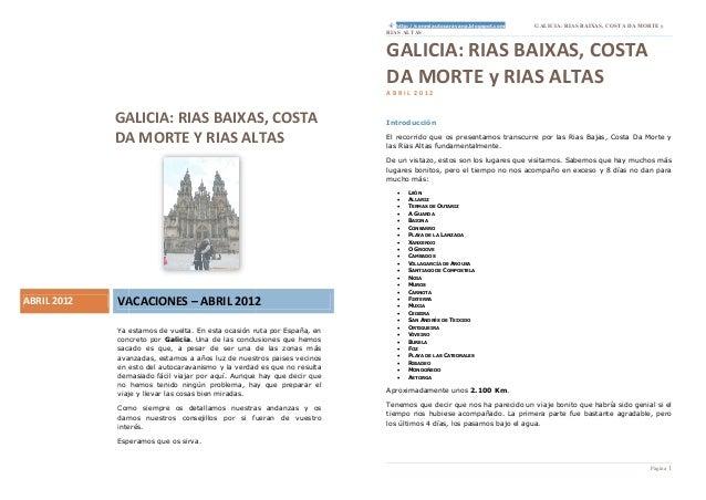 http://conmiautocaravana.blogspot.com   GALICIA: RIAS BAIXAS, COSTA DA MORTE y                                            ...