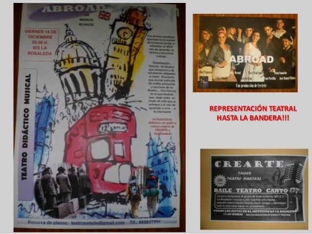 REPRESENTACIÓN TEATRAL                         HASTA LA BANDERA!!!05/12/2012   crearte
