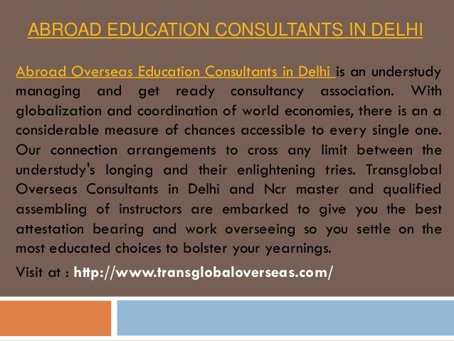 abroad education consultants in delhi