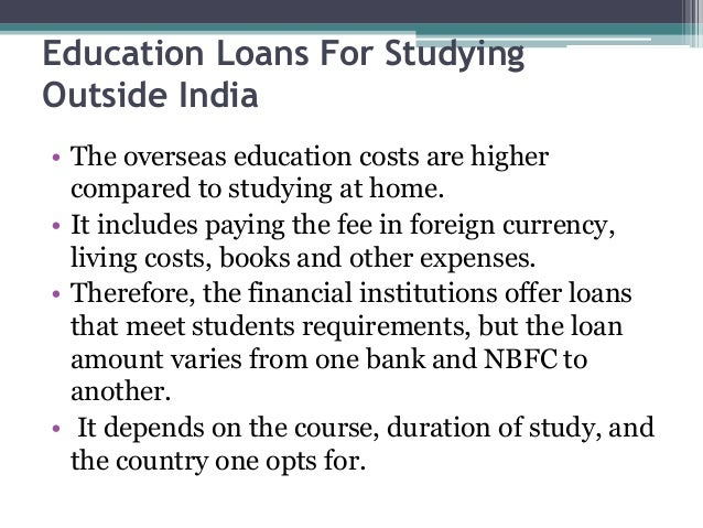 SBI Education loan for Study Abroad - Eligibility ...