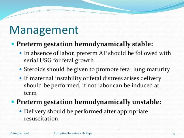 Steroids For Fetal Lung Maturity