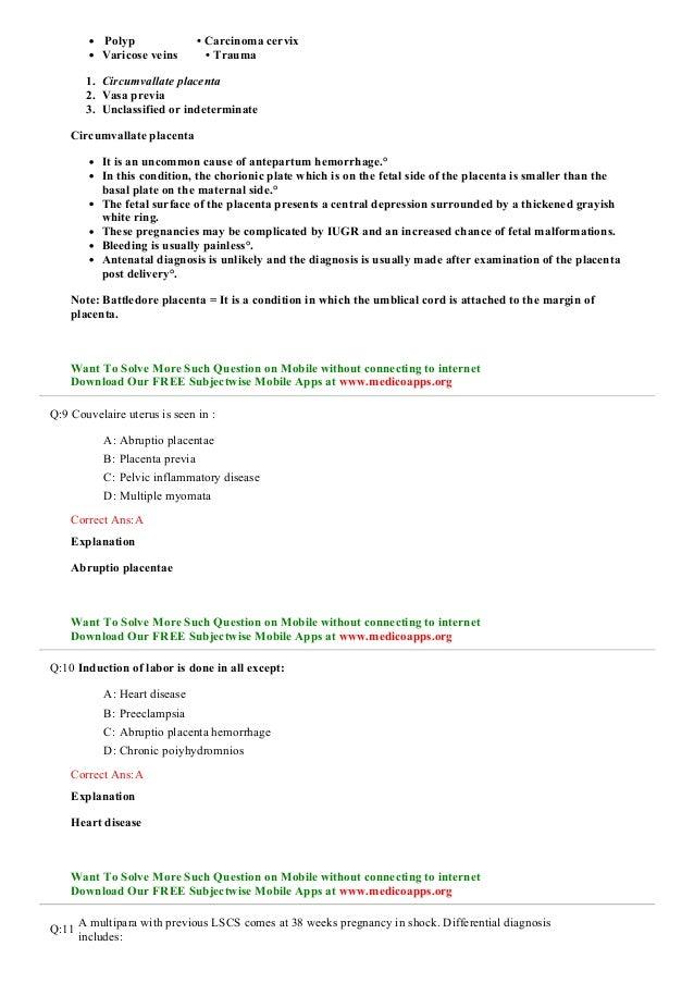 Abruptio placenta sample questions for neet pg, usmle ...   638 x 903 jpeg 94kB
