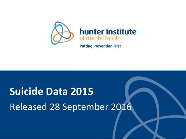 Suicide Data 2015 Released 28 September 2016