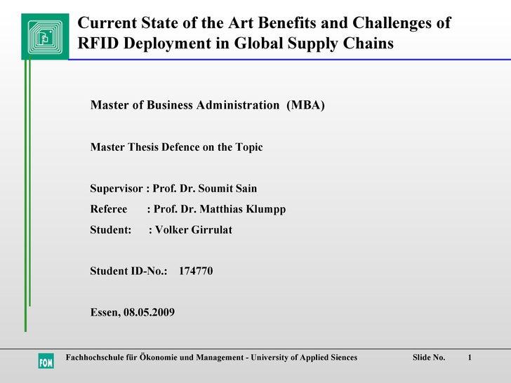 Fachhochschule für Ökonomie und Management - University of Applied Siences  Slide No. Master of Business Administration  (...