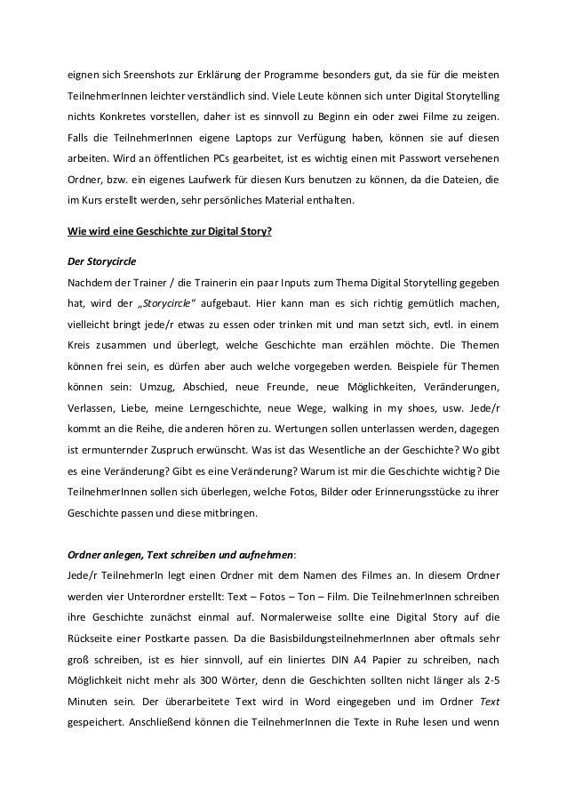 eignen sich Sreenshots zur Erklärung der Programme besonders gut, da sie für die meisten TeilnehmerInnen leichter verständ...