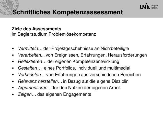 """Kompetenz-Assessment im Begleitstudium """"Problemlösekompetenz"""" Slide 2"""