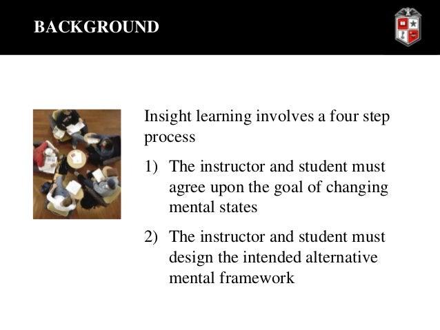 insight learning involves